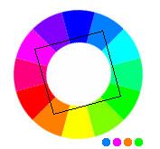 composition 4 tons en carré (Square)