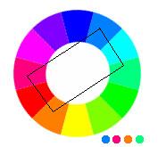 composition 4 tons en rectangle (Tetradic)